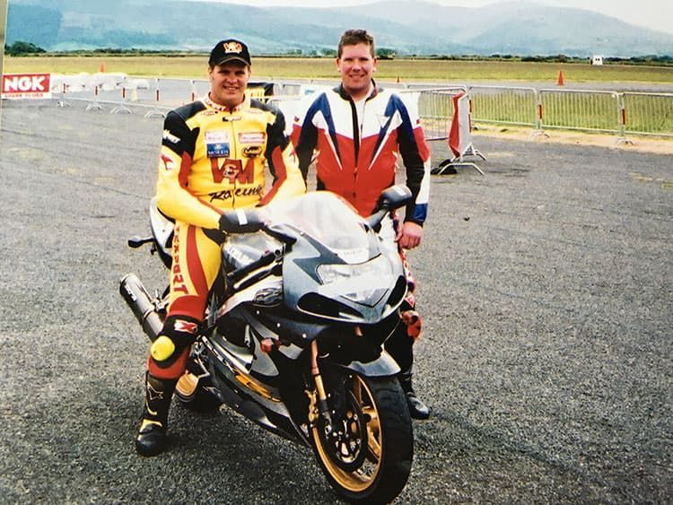 Chris Waldron with David Jefferies